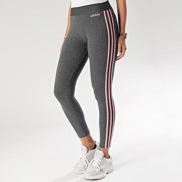 adidas - Legging Femme A Bandes FS9791 Gris Anthracite Chiné
