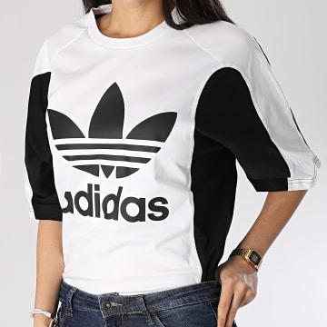 Tee Shirt Femme Boyfriend FL4118 Noir Blanc
