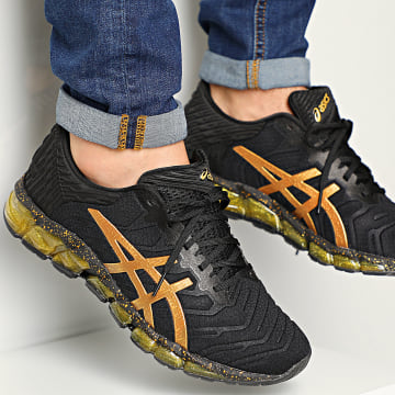 Asics - Baskets Gel Quantum 360 5 1021A451 Black Pure Gold