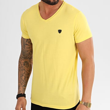 Redskins - Tee Shirt Col V Mint 2 Aden Jaune