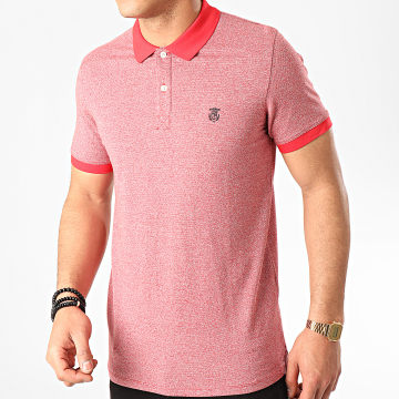 Selected - Polo Manches Courtes Aro Exclusive Rouge Chiné
