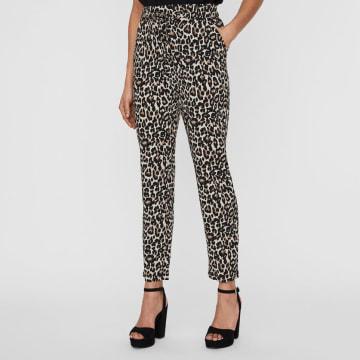 Vero Moda - Pantalon Femme Simply Easy Beige Léopard