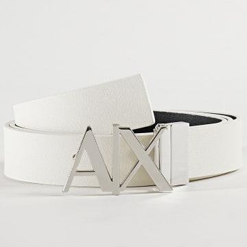 Armani Exchange - Ceinture Réversible 951017-CC505 Gris Blanc