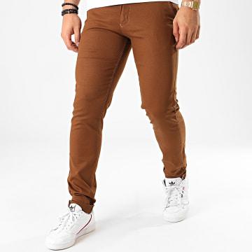 Black Needle - Pantalon Chino BN-1013-1 Marron