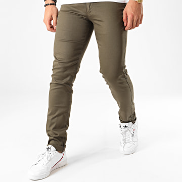 Black Needle - Pantalon Chino BN-1013 Vert Kaki