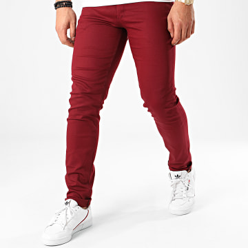 Black Needle - Pantalon Chino BN-1013 Bordeaux