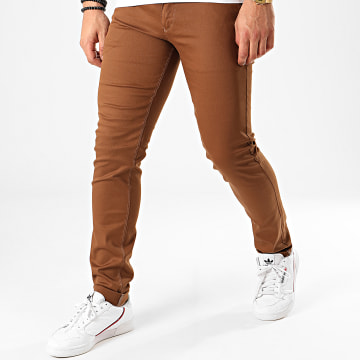 Black Needle - Pantalon Chino BN-1013 Marron