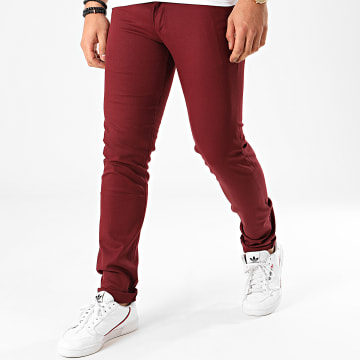Black Needle - Pantalon Chino BN-1013-1 Bordeaux