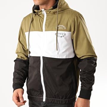 Blend - Coupe-Vent A Capuche Outerwear 20710215 Vert Kaki Blanc Noir