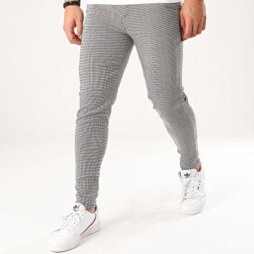 Pantalon A Carreaux 1706 Blanc Noir