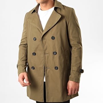 Frilivin - Manteau Trench Coat QQ575 Vert Kaki