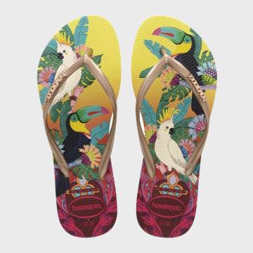 Havaianas - Tongs Femme Slim Jaune