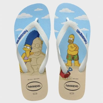 Havaianas - Tongs Simpsons Bleu Ciel