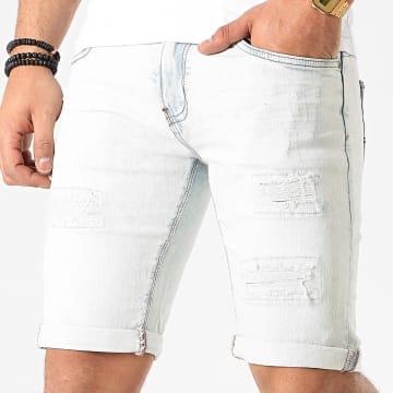 Indicode Jeans - Short Jean Kaden Holes Bleu Wash