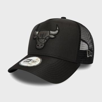 New Era - Casquette Trucker Tonal Black 12285238 Chicago Bulls Noir