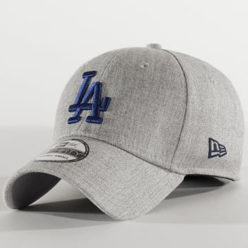 New Era - Casquette Fitted 39Thirty Heather 12285457 Los Angeles Dodgers Gris Chiné