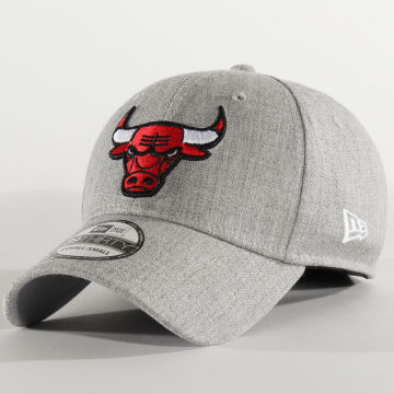 New Era - Casquette Fitted 39Thirty Heather 12285456 Chicago Bulls Gris Chiné