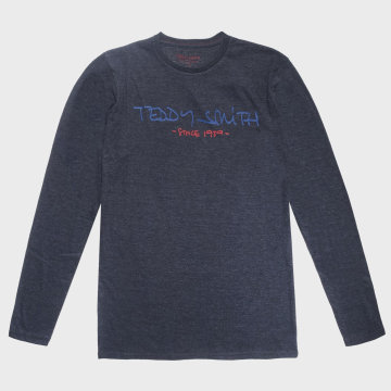 Teddy Smith - Tee Shirt Manches Longues Class Basic Gris Anthracite Chiné