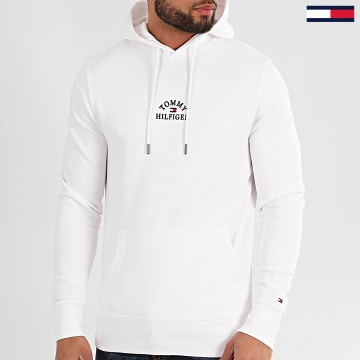Tommy Hilfiger - Sweat Capuche Basic Embroidered 3037 Blanc