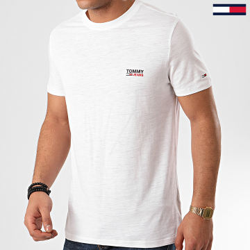 Tommy Jeans - Tee Shirt Texture Logo 7813 Blanc