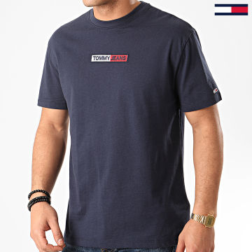 Tee Shirt Embroidered Box Logo 7868 Bleu Marine