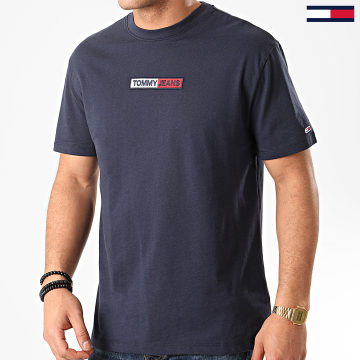 Tommy Jeans - Tee Shirt Embroidered Box Logo 7868 Bleu Marine