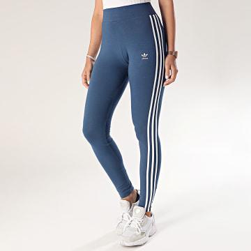 Adidas Originals - Legging Femme A Bandes 3 Stripes FM3286 Bleu Marine