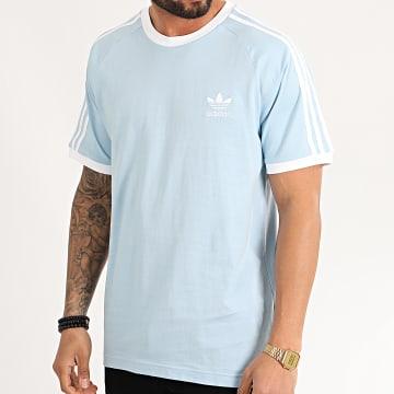 Tee Shirt A Bandes FM3773 Bleu Ciel