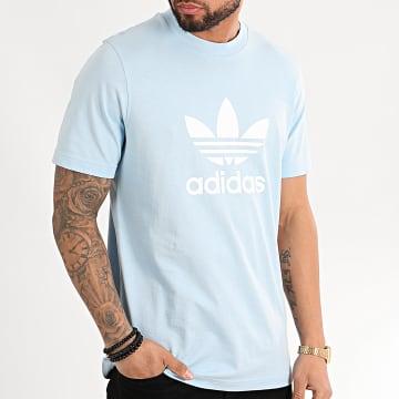 Adidas Originals - Tee Shirt Trefoil FM3794 Bleu Ciel