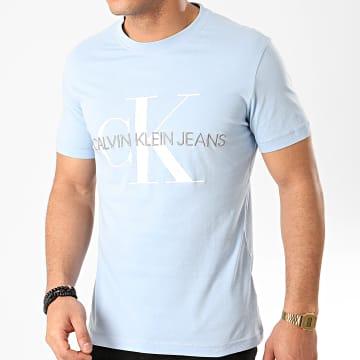 Tee Shirt Vegetable Dye Monogram 4762 Bleu Clair