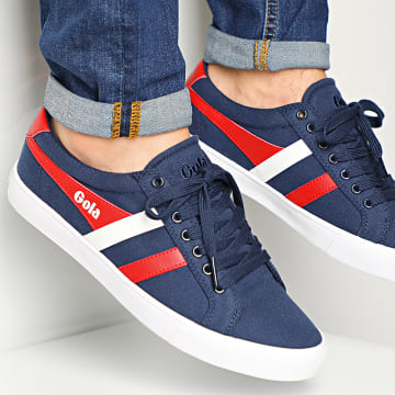 Gola - Baskets Varsity CMA331 Navy Red White