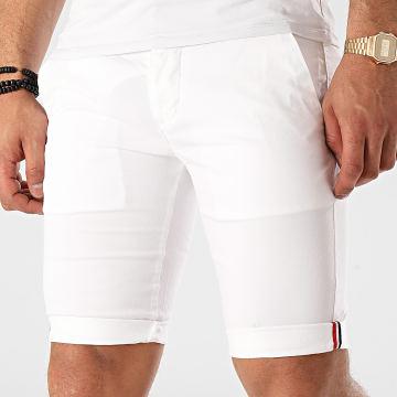 La Maison Blaggio - Short Chino Venili Blanc