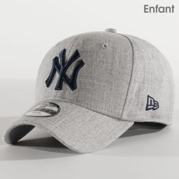 New Era - Casquette Enfant 9Fifty Heather Stretch-Snap 12301157 New York Yankees Gris Chiné