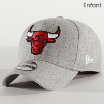 New Era - Casquette Enfant 9Fifty Heather Stretch-Snap 12301162 Chicago Bulls Gris Chiné