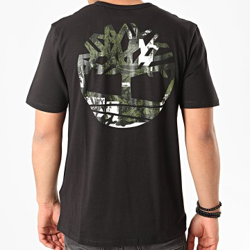 Timberland - Tee Shirt Back Logo Camo A29JR Noir