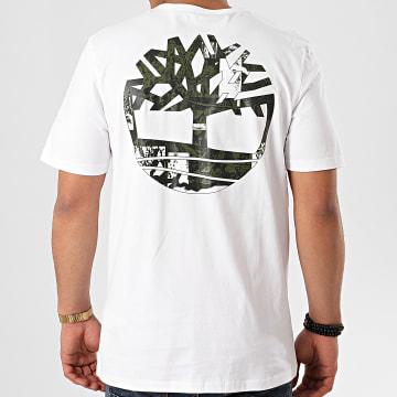 Timberland - Tee Shirt Back Logo Camo A29JR Blanc