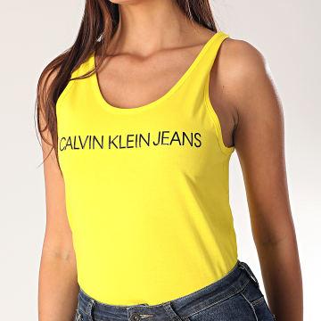 Calvin Klein - Débardeur Femme Crop 3051 Jaune