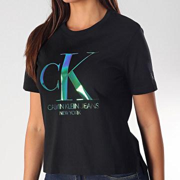 Tee Shirt Femme Crop 3568 Noir
