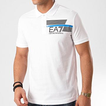 EA7 - Polo Manches Courtes 3HPF17-PJ02Z Blanc