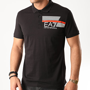 EA7 - Polo Manches Courtes 3HPF17-PJ02Z Noir