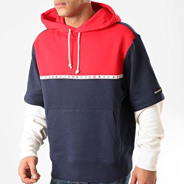 Element - Sweat Capuche Tricolore Tokyo Rouge Bleu Marine Blanc