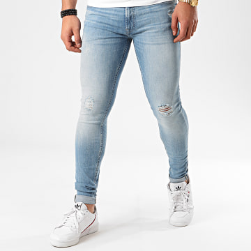 Jack And Jones - Jean Skinny Tom Bleu Denim