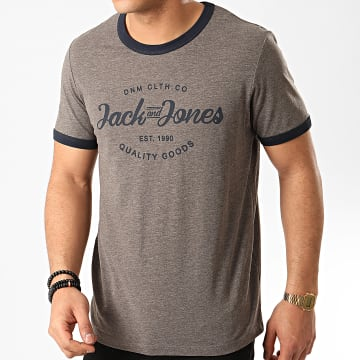Tee Shirt Retro Gris Anthracite Chiné