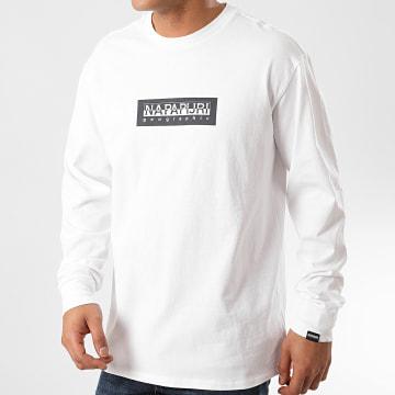Napapijri - Tee Shirt Manches Longues Sox A4EGA Blanc
