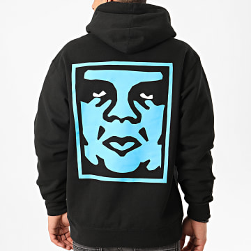 Obey - Sweat Capuche Paper Cut Noir