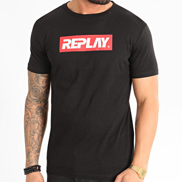 Replay - Tee Shirt Basic Jersey M3003 Noir