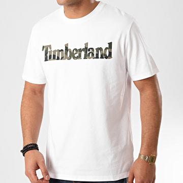 Timberland - Tee Shirt Camouflage A216E Blanc