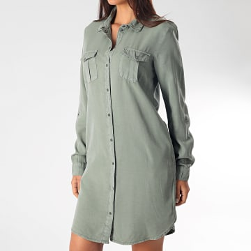 Vero Moda - Robe Femme Manches Longues Silla Vert Kaki