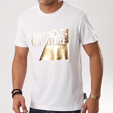 Versace Jeans Couture - Tee Shirt B3GVB7TP-30319 Blanc Doré