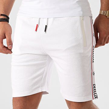 Deeluxe - Short Jogging A Bandes Puffy Blanc